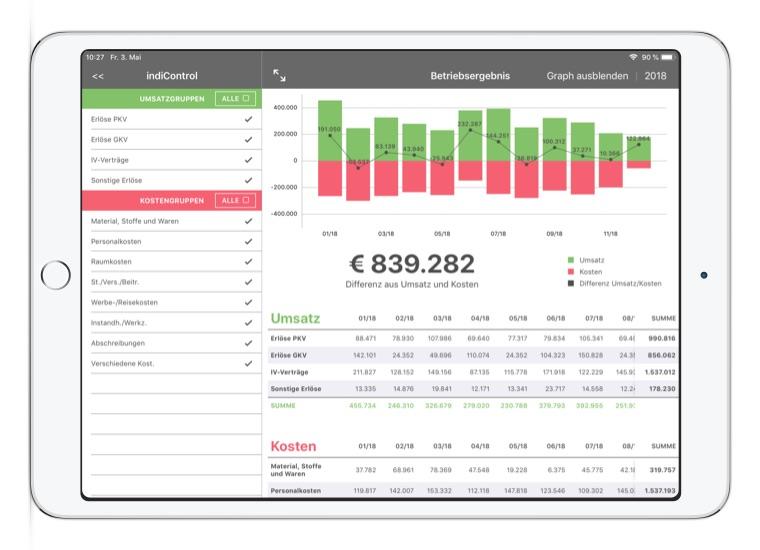 App Entwicklung Bremen Convelop – Referenz indiControl iPad Screen 3