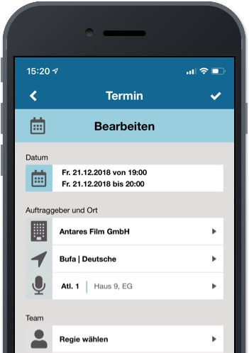 Synchron App – Convelop Referenz – Screen 2
