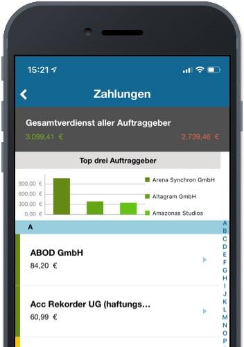Synchron App – Convelop Referenz – Screen 3