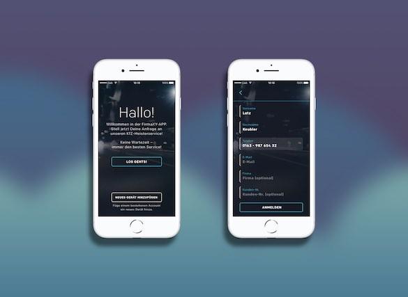 CAPP4 – App für Kundenkommunikation – Screenshots 01