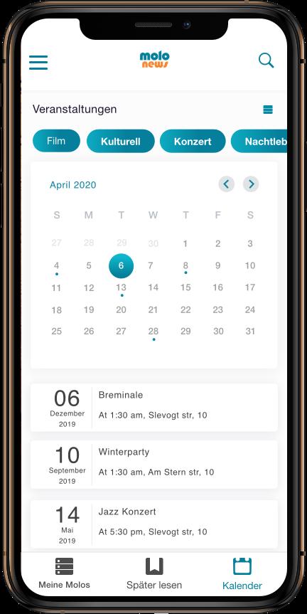 App Entwicklung Bremen Convelop – Referenz indiControl iPad Screen 1